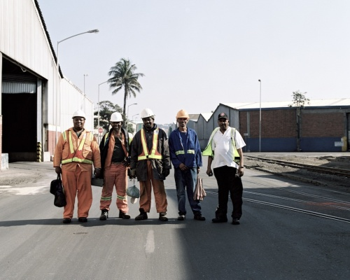 Durban Port workers clocking off